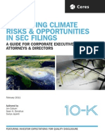 Ceres Report Disclosing Climate Risks & Opportunties in SEC Filings Report Feb/2011