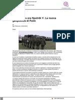 Prima il gas, ora Sputnik. La nuova geopolitica di Putin - Formiche.net, 20 febbraio 2021