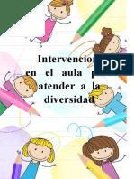 Intervencion en el aula para la diversidad