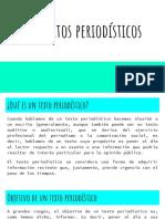 Los textos periodisticos - actividad de lengua para secundario