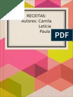 RECEITAS_ Autores_ Camila Letícia Paula