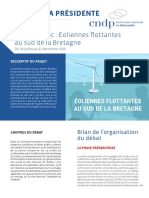 Bilan du débat public sur le projet d'éoliennes flottantes au sud de la Bretagne