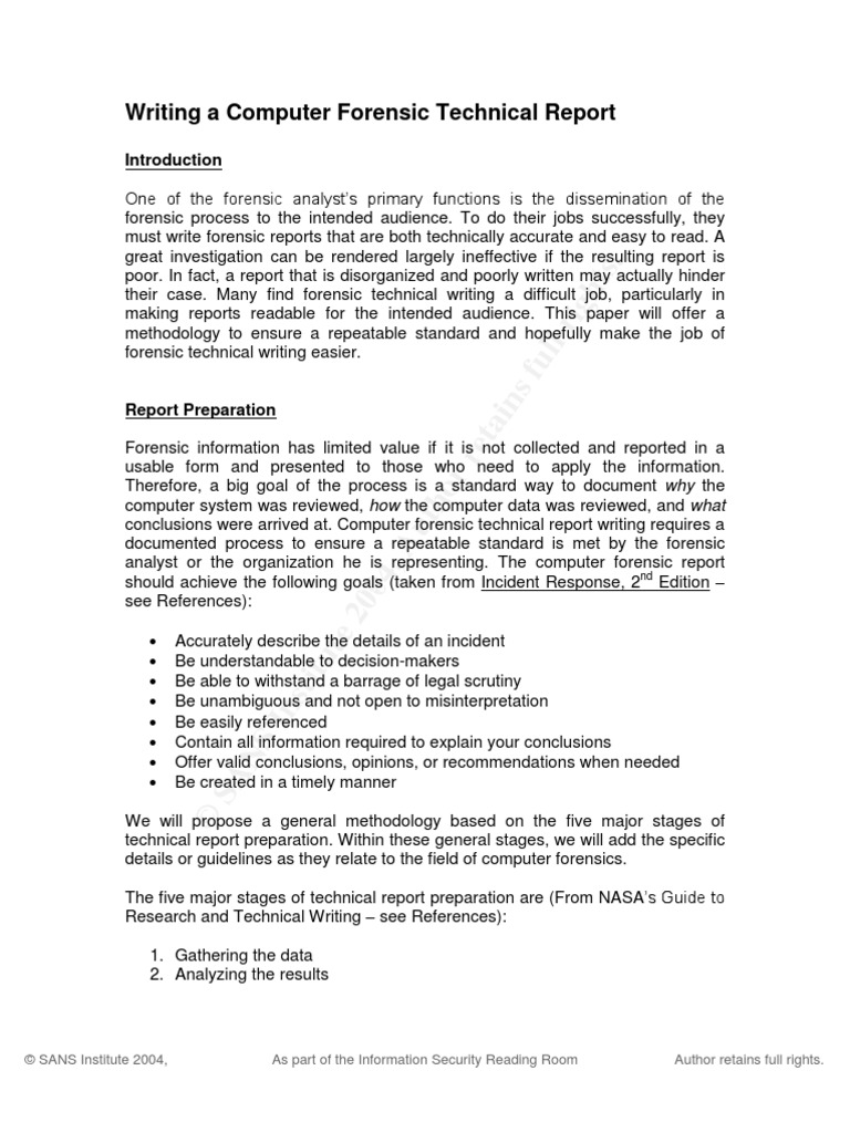 computer forensics report example Great Digital Forensics Report Template Pictures Inspiration ...