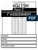 Year 2 1st Assessment 2018