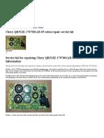 Chery QR512E-1707001AB-05 robot repair service kit
