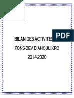 Bilan Des Activites Du
