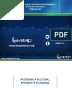 Preferencia Electoral Alianzas Partidos Febrero 2021
