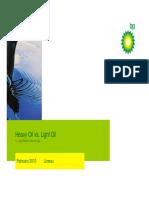 Heavy Oil vs. Light Oil - BP