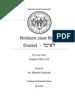 Notizen zu den 12 Kapitel im Buch Daniel