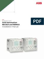 RER615 Installation Manual
