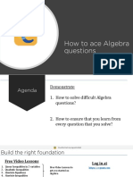 e-GMAT - How to ace GMAT Algebra questions