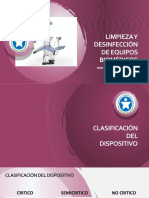 Limpieza y Desinfección de Equipos Biomédicos