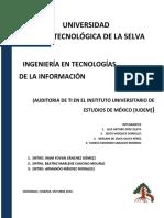 AUDITORIA DE TI EN EL INSTITUTO UNIVERSITARIO DE ESTUDIOS DE MÉXICO [IUDEM]