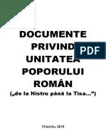 Documente Unitatea Poporului Român