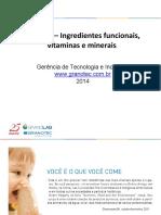 Micronutrientes e ingredientes funcionais