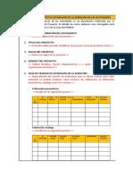 Formato de Estimación de la Duración de las Actividades