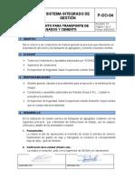 P-GO-04 TRANSPORTE DE AGREGADOS-CEMENTO