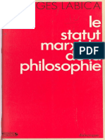 Georges Labica Status marxiste de la philosophoe