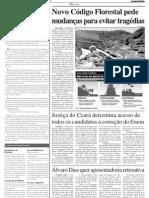 Novo Código Florestal e Tregedias