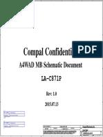Aspire E5-491G Compal A4WAD LA-C871P Rev 1.0