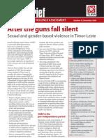 Sexual and Gender-Based Violence in Timor-Leste