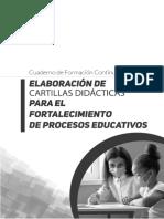 ELABORACIÓN DE CARTILLAS DIDÁCTICAS PARA EL FORTALECIMIENTO DE PROCESOS E