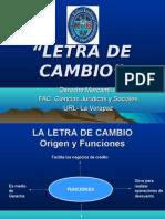 Presentación LETRA DE CAMBIO