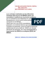 CONTRATOS DEL MINSA 2010-2011 DEBEN SER REEVALUADOS