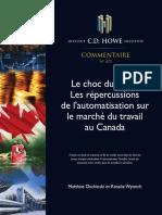 Rapport CD Howe Automatisation