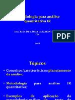 Metodologia Para Análise Quantitativa IR