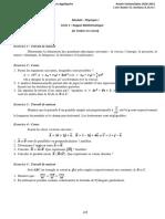 Série Rappel mathématique et corrigé 2020-2021