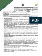 Atividade Extraclasse-percurso 1 - Questionário - Tarefa - Legislação e Tributação Das Cooperativas - Cooperativismo Material Para o ALUNO