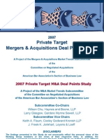 2007 Private Target Deal Points Study (v.1)
