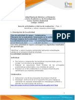 Guía de actividades y Rúbrica de Evaluación - Fase 2 - Identificar y valorar impactos ambientales
