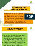 MANEJO SEGURO DE SUSTANCIAS QUÍMICAS
