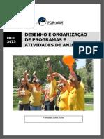 UFCD-3473- DESENHO E ORGANIZAÇÃO DE PROGRAMAS E ATIVIDADES DE ANIMAÇÃO