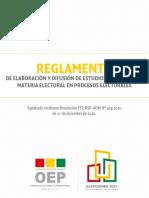Reglamento Encuestas Subnacionales 2021