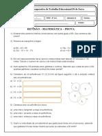 REVISÃO MATEMÁTICA E GEOMETRIA PROVA