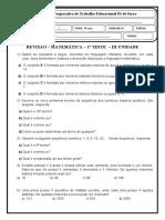 REVISÃO MATEMÁTICA TESTE 1