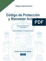 BOE-204 Codigo de Proteccion y Bienestar Animal