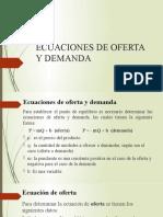 ECUACIONES DE OFERTA Y DEMANDA