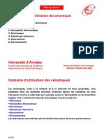 4.Domaine Dutilisation Des c Ramiques Copie
