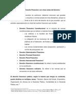 Relación del Derecho Financiero con otras ramas del derecho