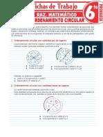 Problemas de ordenamiento circular sexto grado
