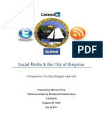 Social Media proposal to City of Kingston