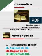 HERMENEUTICA BIBLICA -