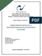 4- Fabrication en continudu 1,2-DICHLOROÉTHANE par oxychloration de léthylene