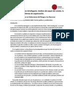 Gobernanza en Creo Antofagasta Análisis Del Papel Del Estado, La Sociedad y Los Problemas de Organización