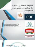 evidencia 8.4 diseño de plan de ruta y red geografica de transporte