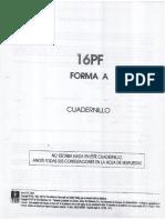 CUADERNILLO 16 PF FORMA A